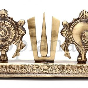 Brass Shankh Chakra Namah